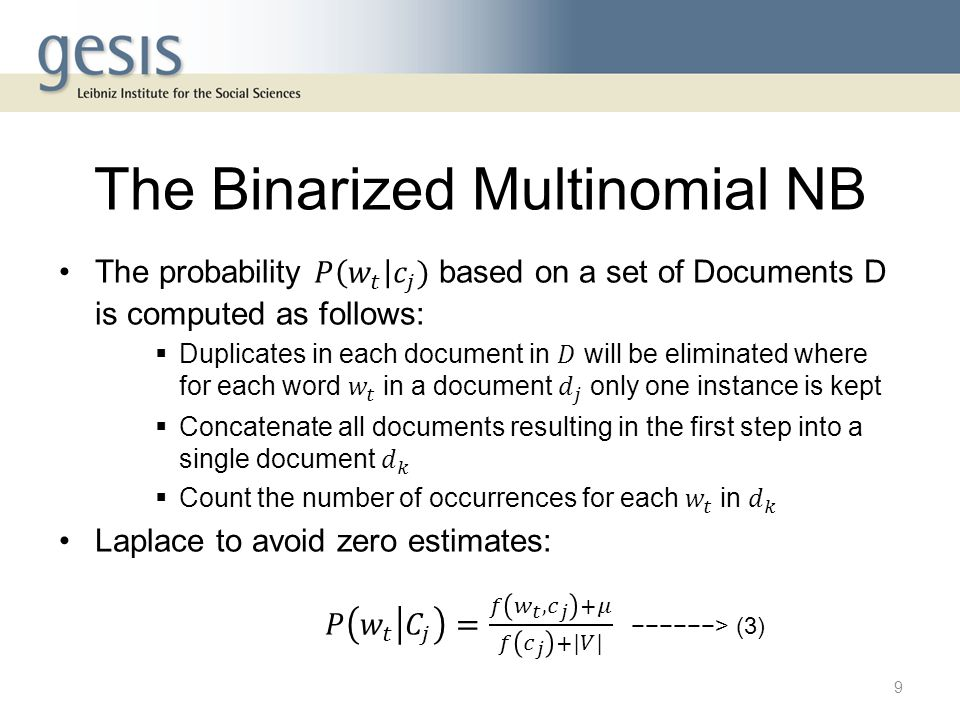 The Binarized Multinomial NB