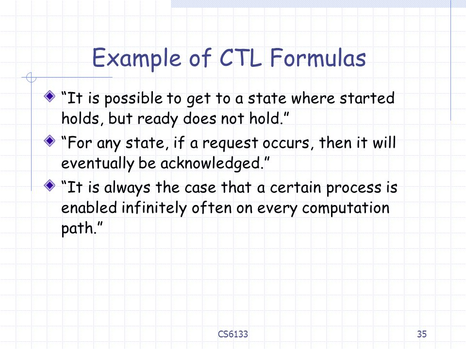 Example of CTL Formulas