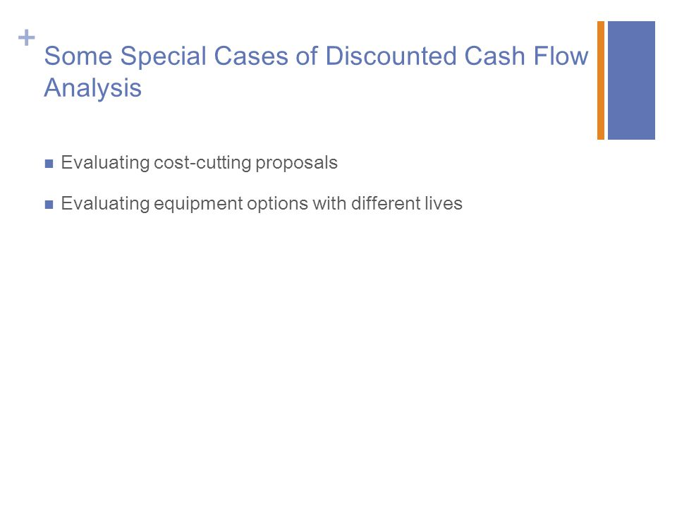 Some Special Cases of Discounted Cash Flow Analysis