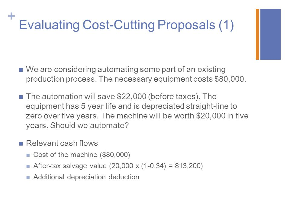 Evaluating Cost-Cutting Proposals (1)
