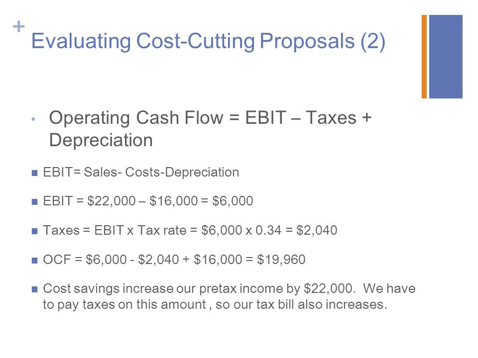 Evaluating Cost-Cutting Proposals (2)