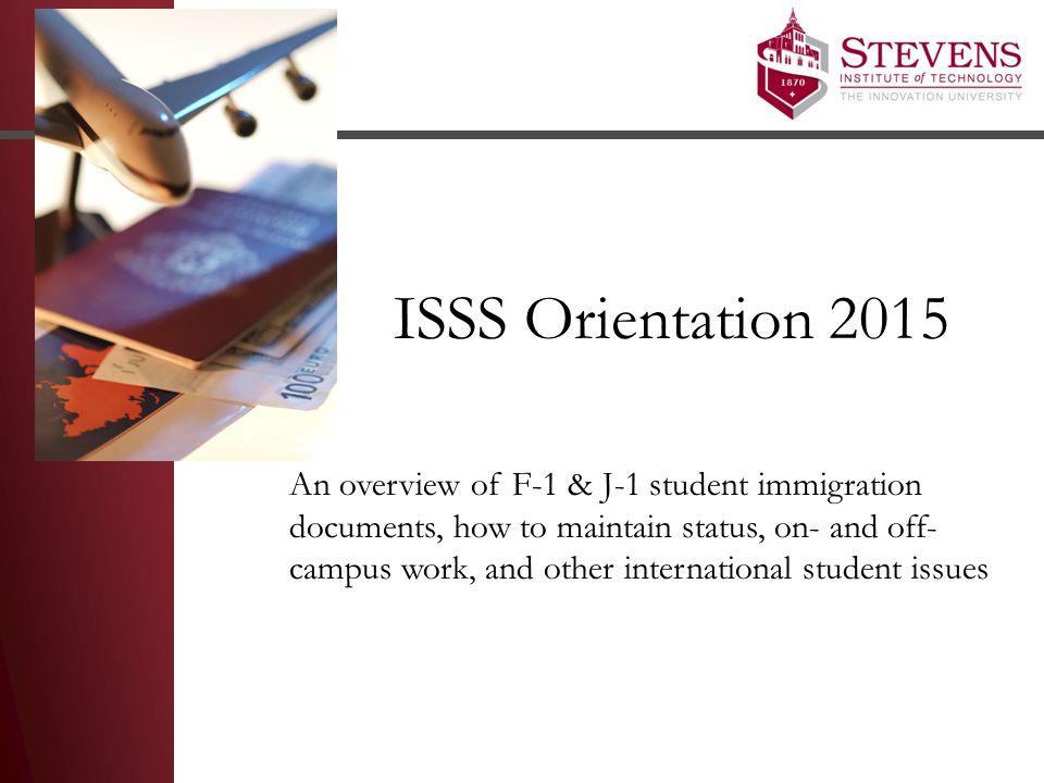 ISSS Orientation 2015