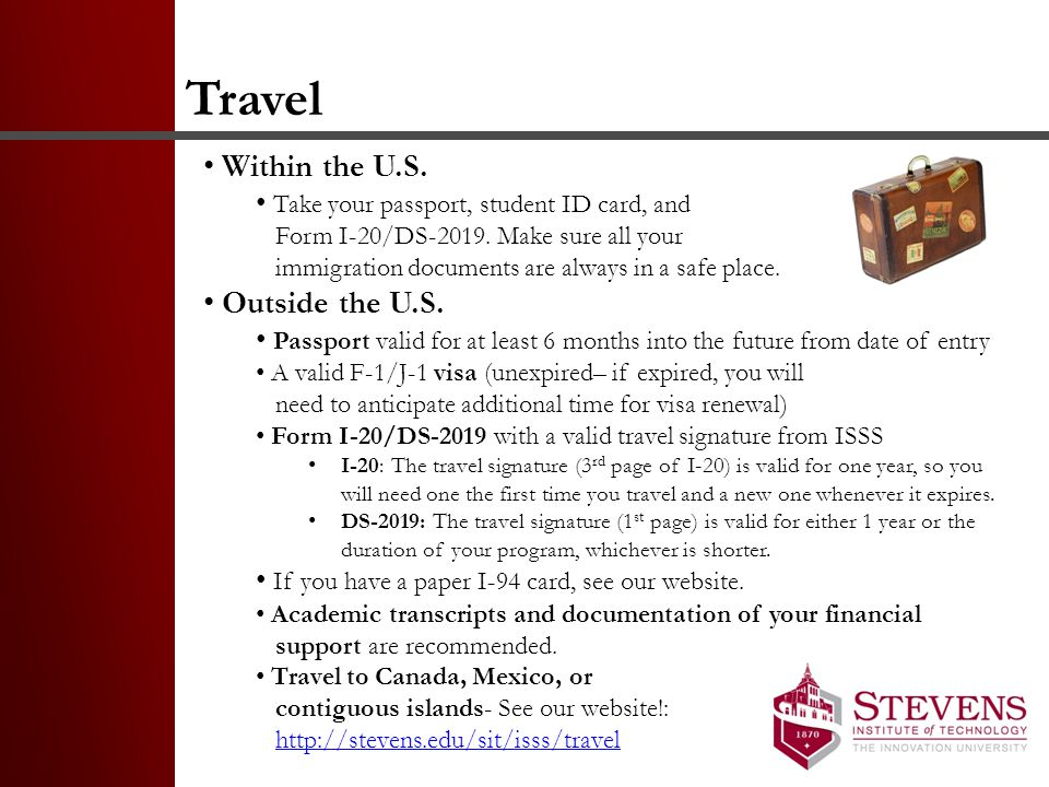 Travel Within the U.S. Outside the U.S.