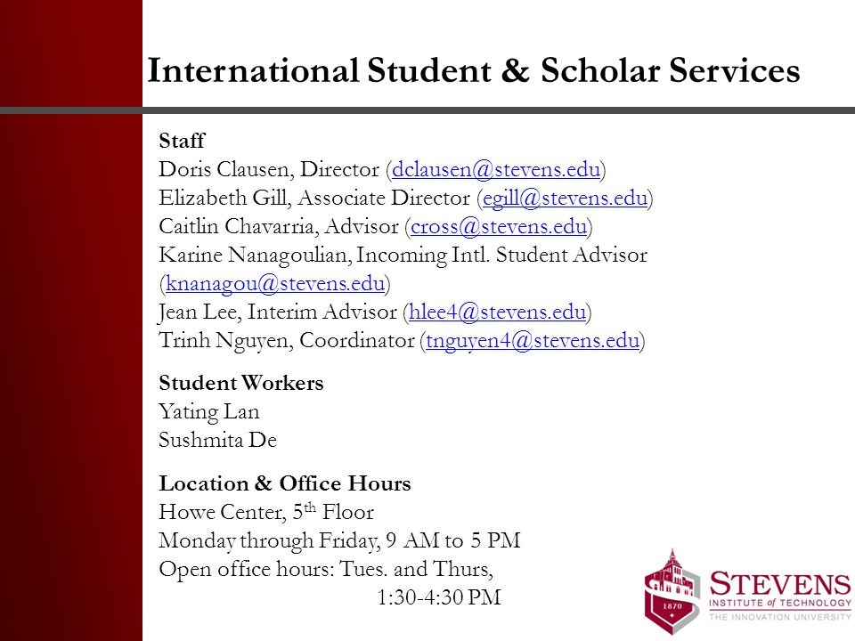 International Student & Scholar Services