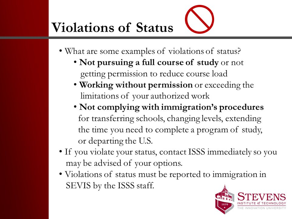 Violations of Status What are some examples of violations of status