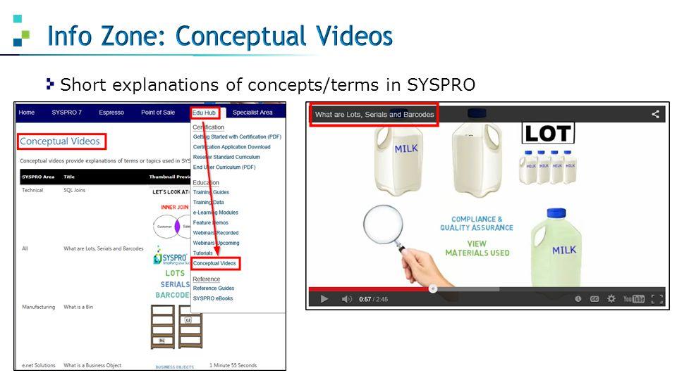 Info Zone: Conceptual Videos