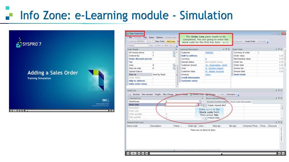Info Zone: e-Learning module - Simulation