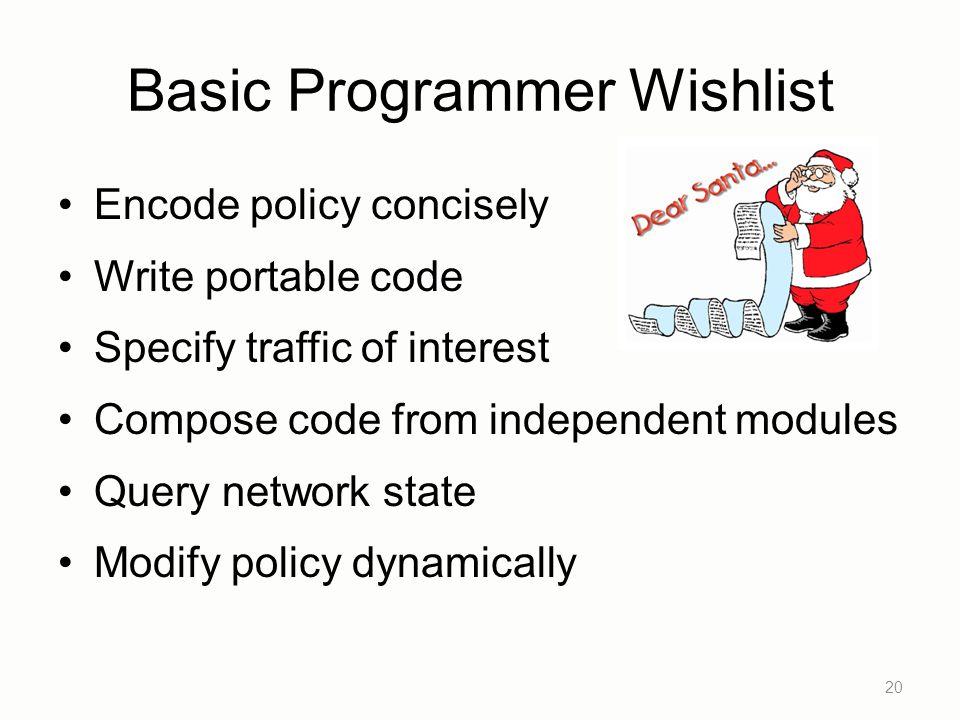 Basic Programmer Wishlist