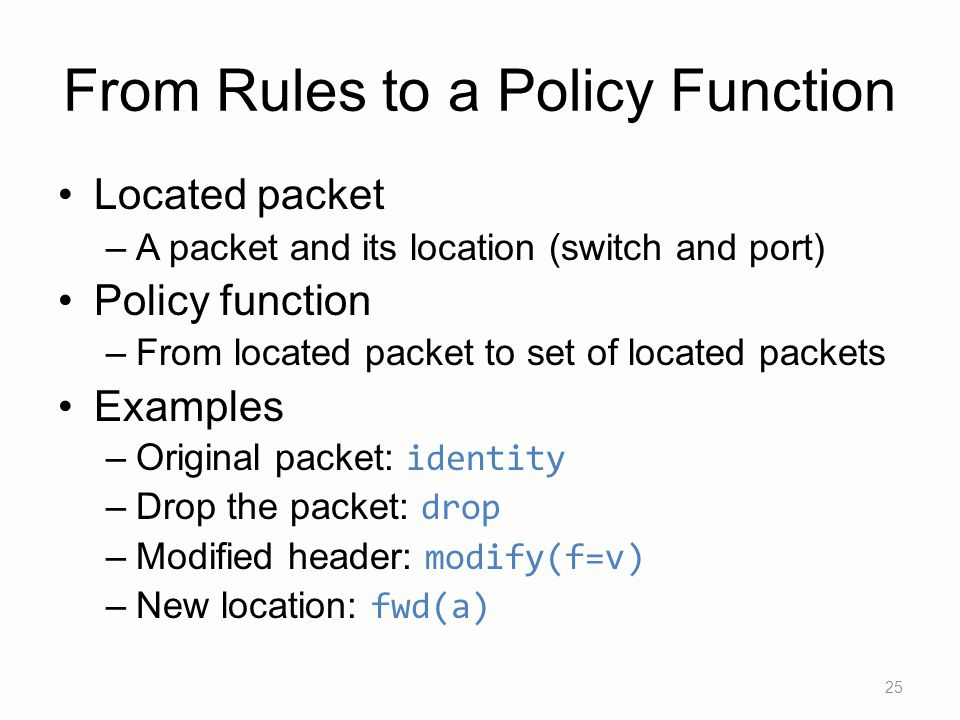 From Rules to a Policy Function