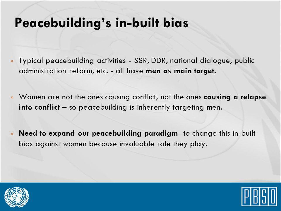 Peacebuilding's in-built bias
