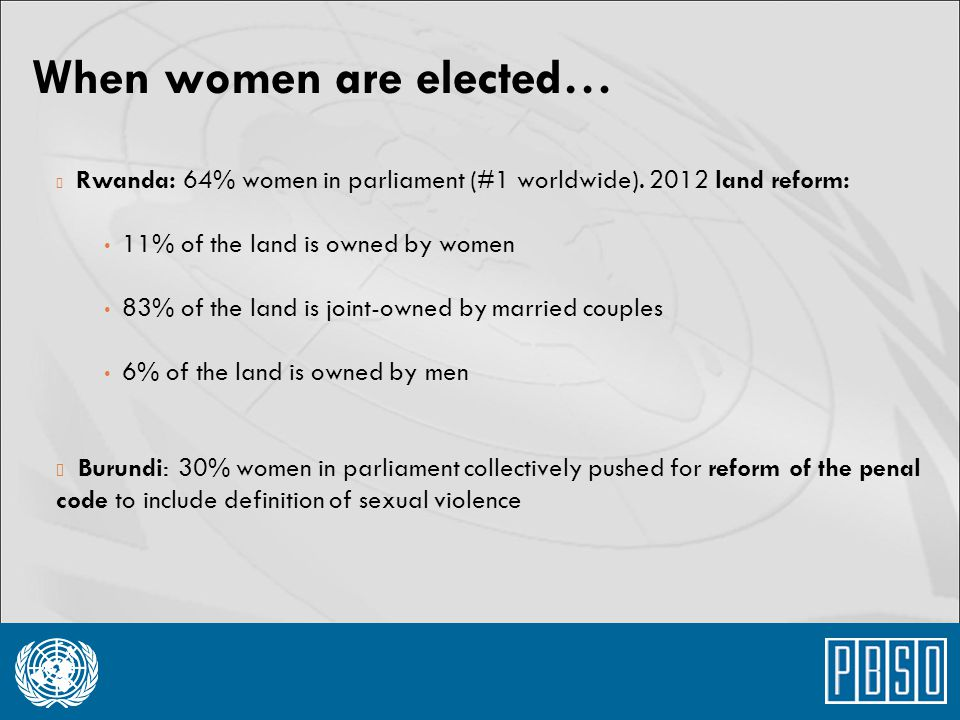 When women are elected…