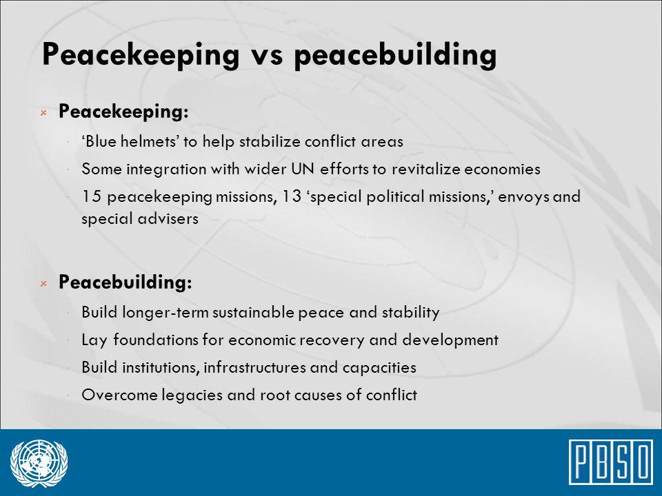 Peacekeeping vs peacebuilding