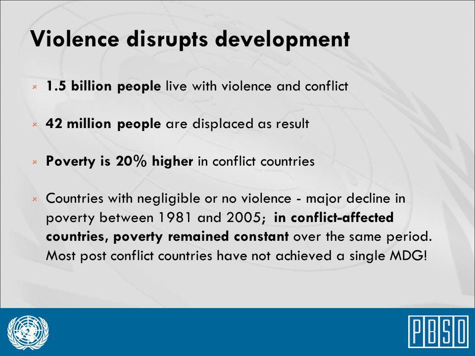 Violence disrupts development