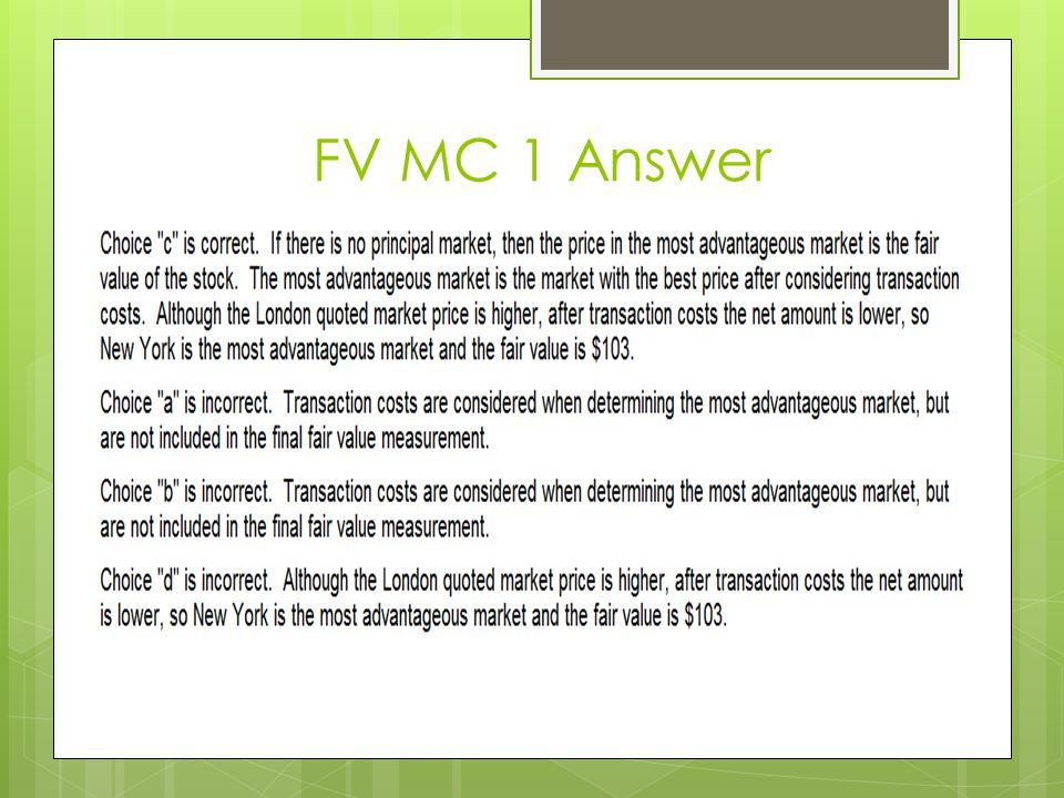 FV MC 1 Answer