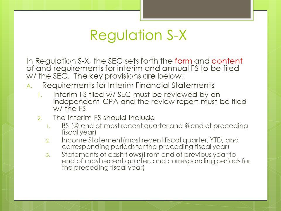 Regulation S-X