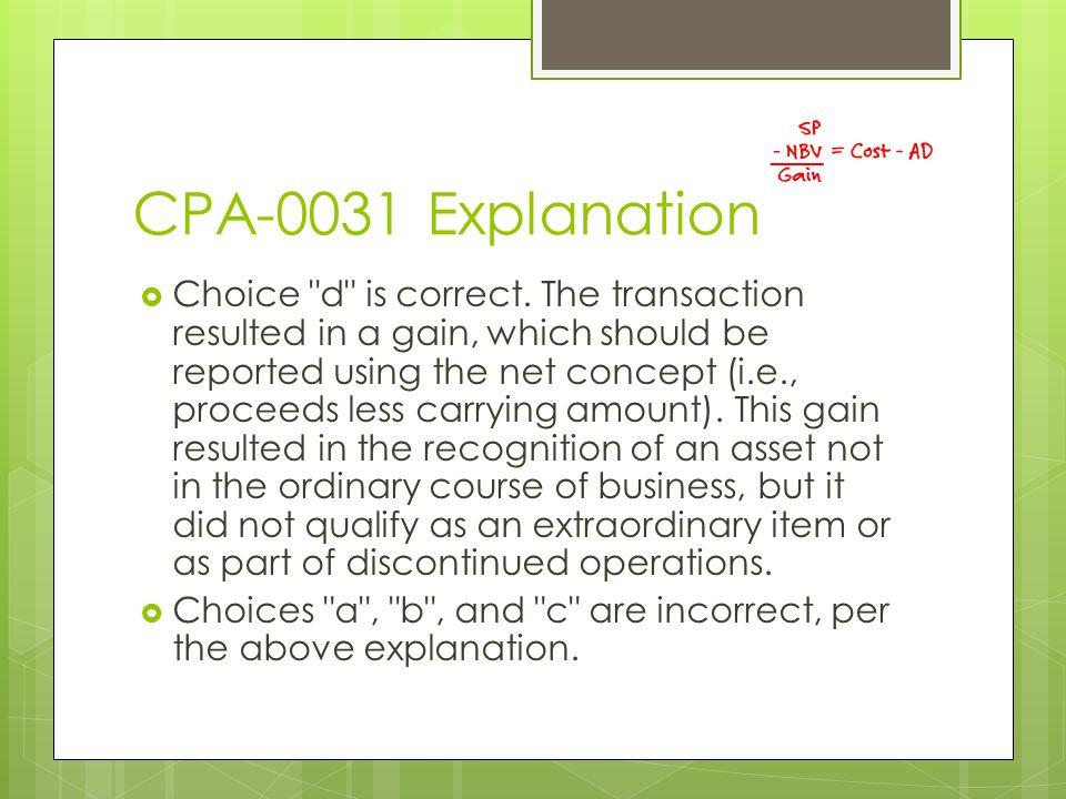 CPA-0031 Explanation