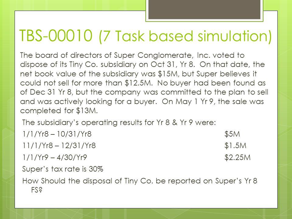 TBS-00010 (7 Task based simulation)