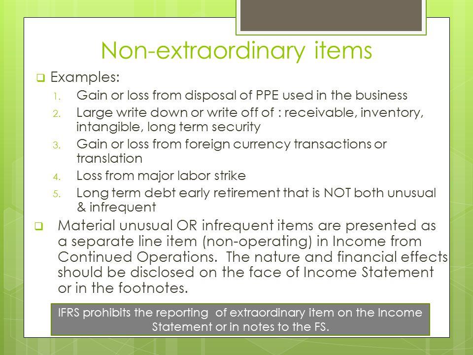 Non-extraordinary items