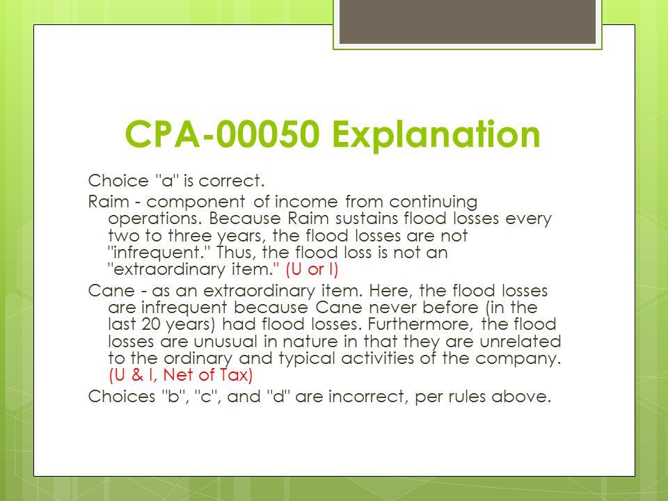 CPA-00050 Explanation