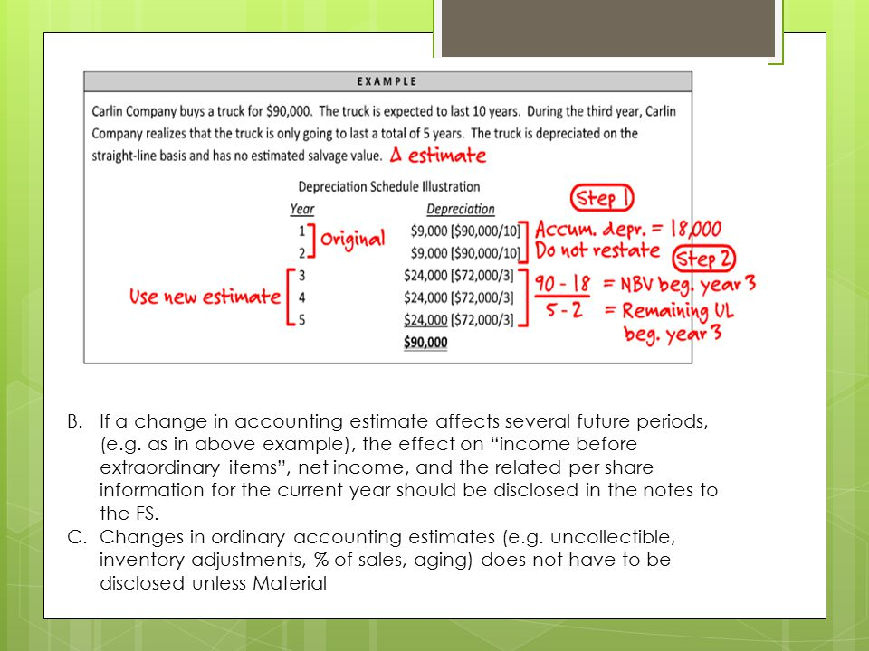 If a change in accounting estimate affects several future periods, (e