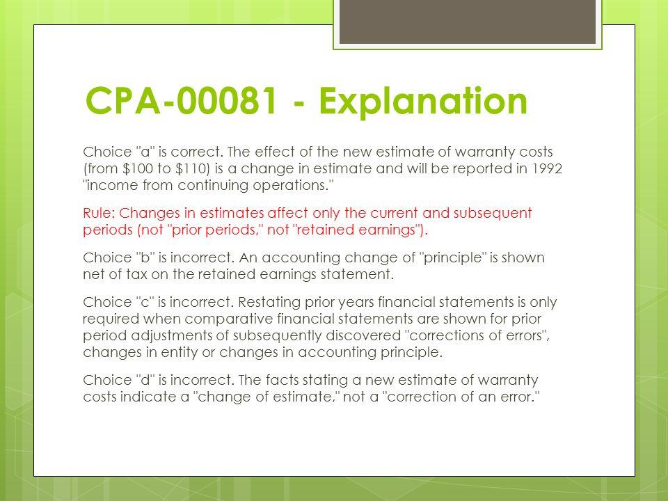 CPA-00081 - Explanation