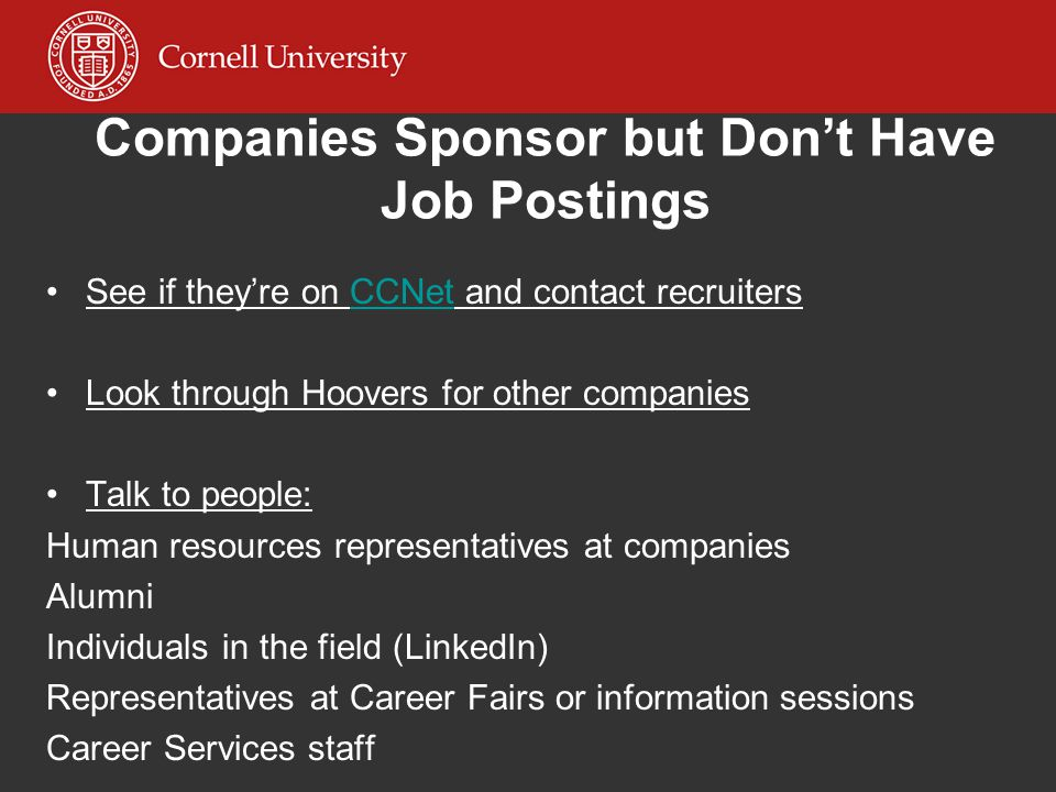 Companies Sponsor but Don't Have Job Postings