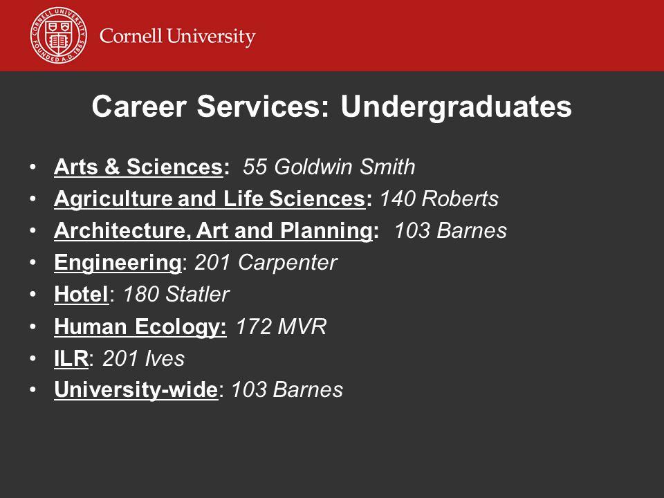 Career Services: Undergraduates