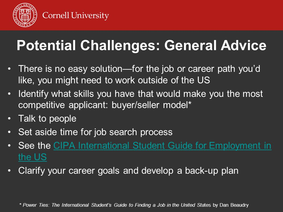 Potential Challenges: General Advice