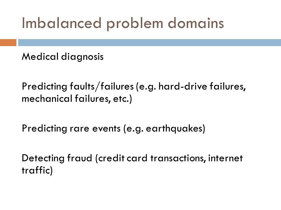 Imbalanced problem domains