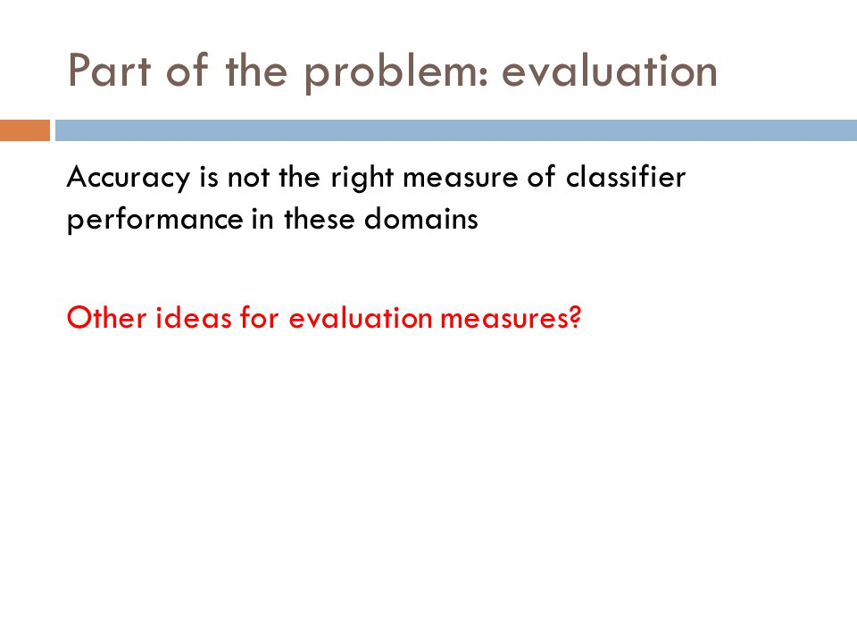 Part of the problem: evaluation