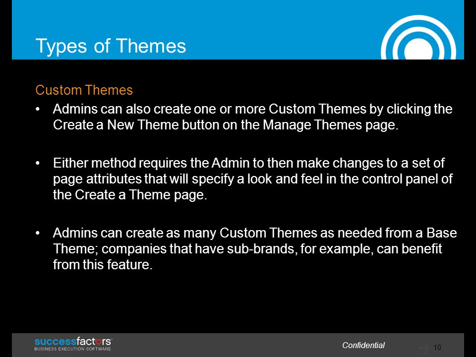 Types of Themes Custom Themes