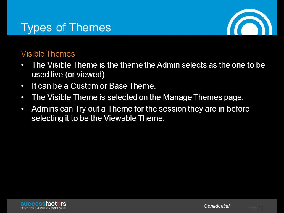 Types of Themes Visible Themes