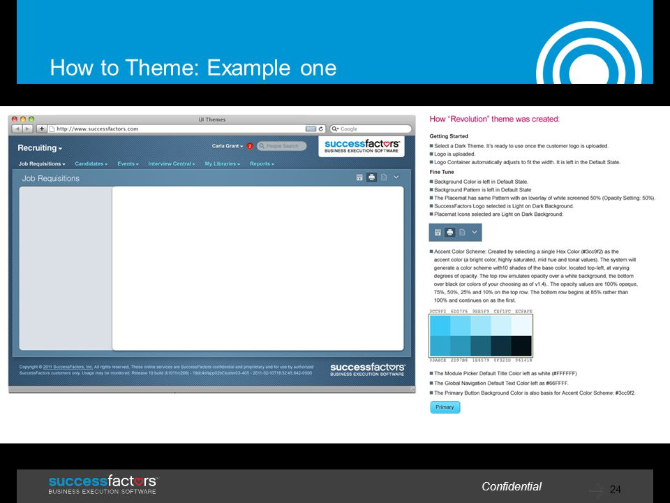 How to Theme: Example one