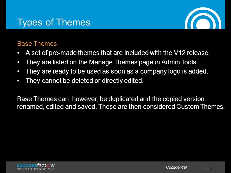 Types of Themes Base Themes