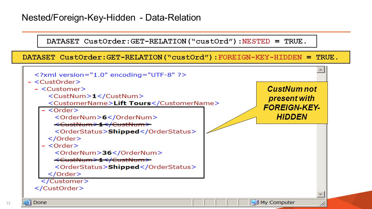 Nested/Foreign-Key-Hidden - Data-Relation