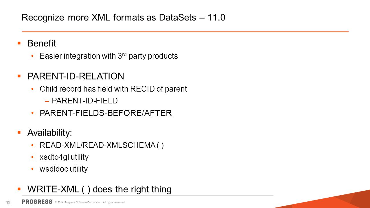 Recognize more XML formats as DataSets – 11.0