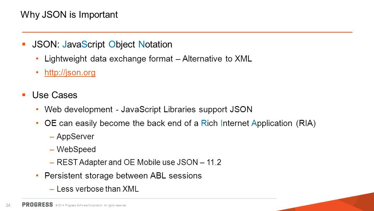 JSON: JavaScript Object Notation