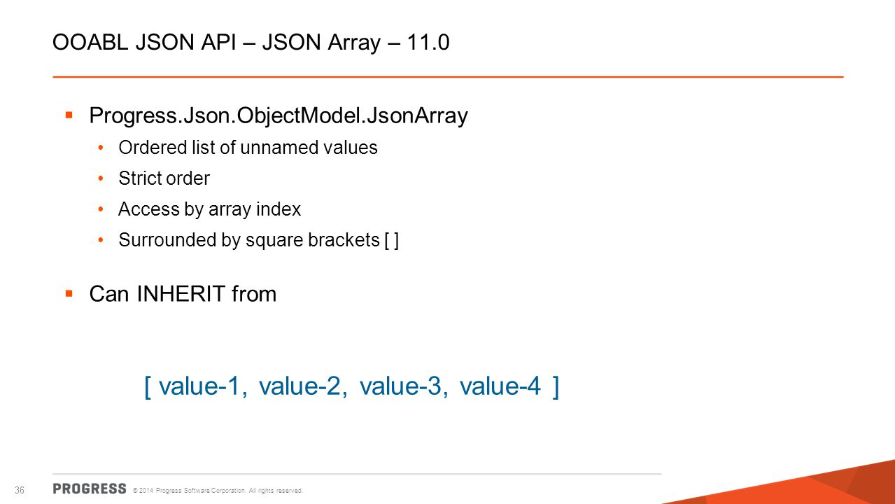 OOABL JSON API – JSON Array – 11.0