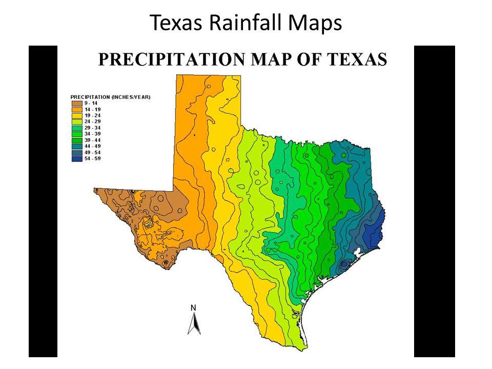 Texas Rainfall Maps