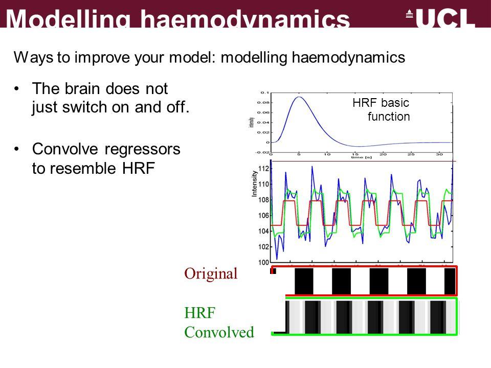 Ways to improve your model: modelling haemodynamics