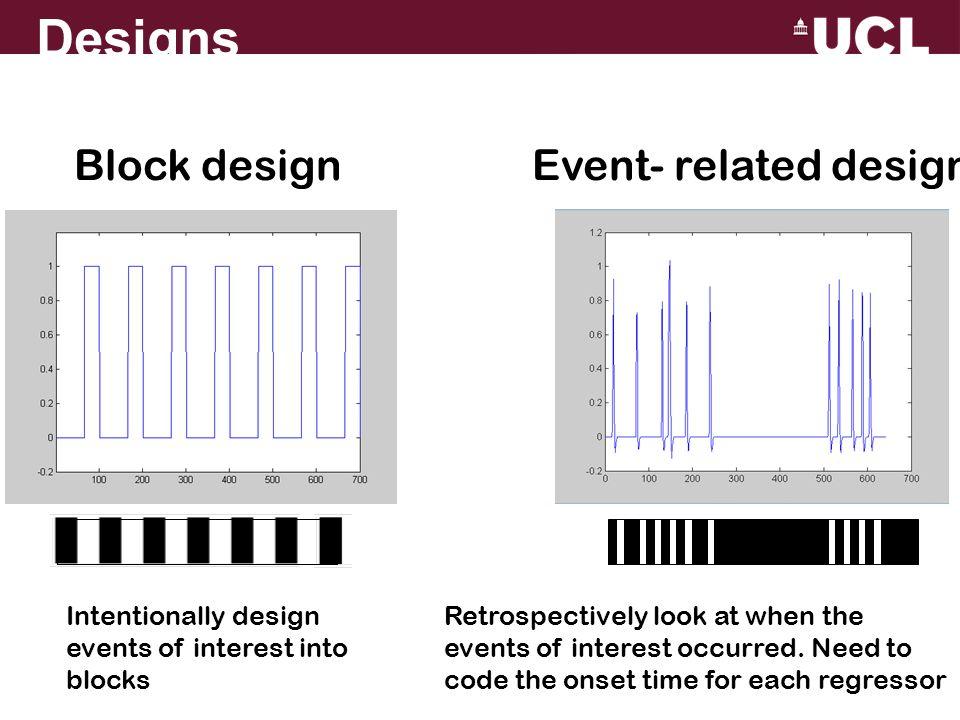 Designs Block design Event- related design