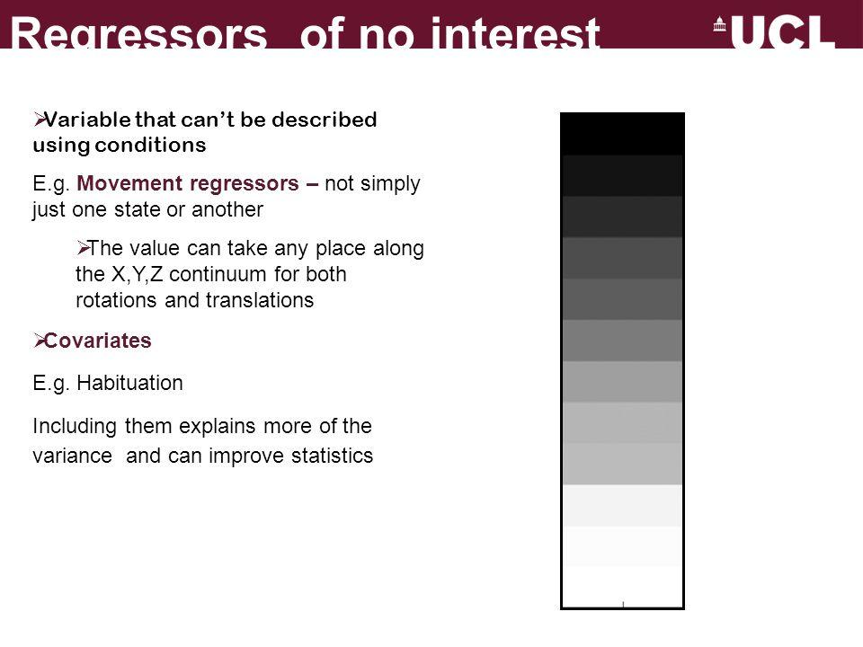 Regressors of no interest