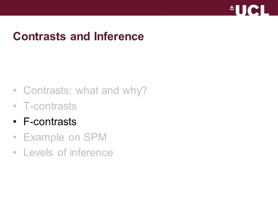 Contrasts and Inference