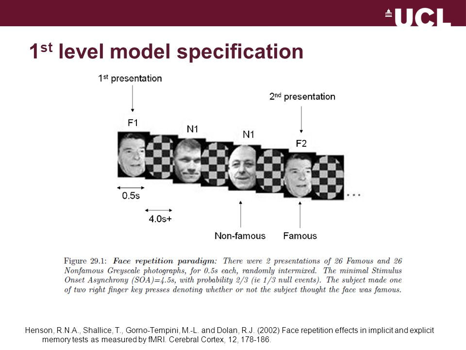 1st level model specification