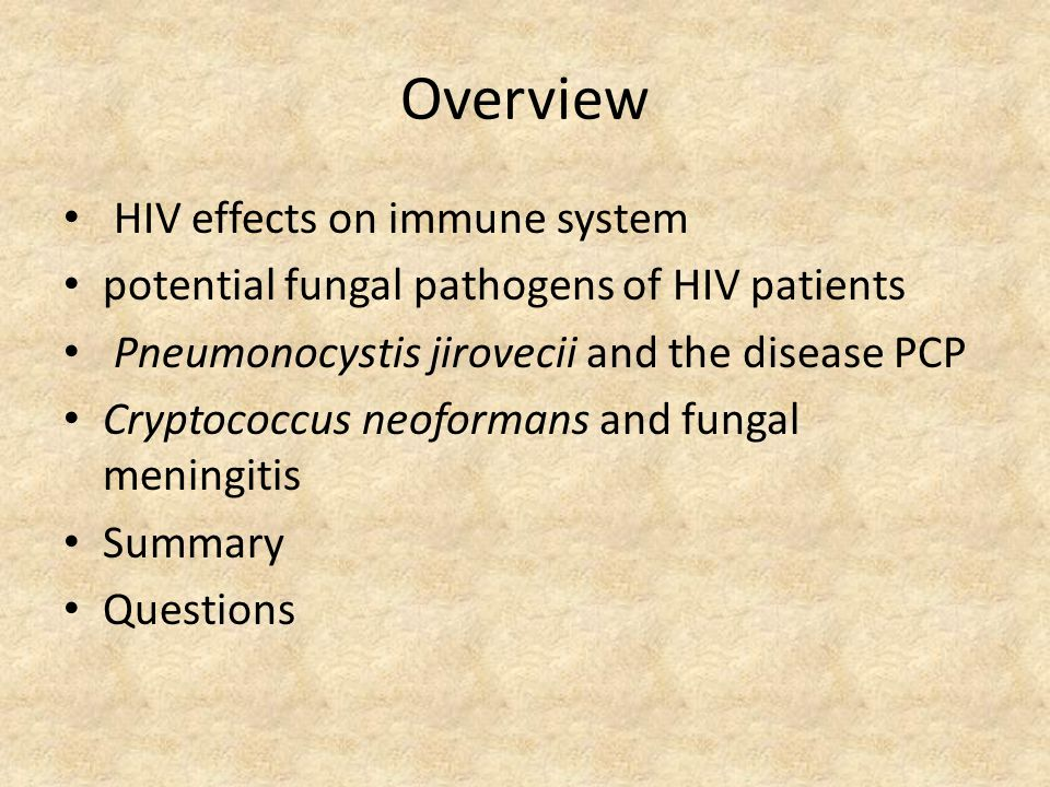 Overview HIV effects on immune system