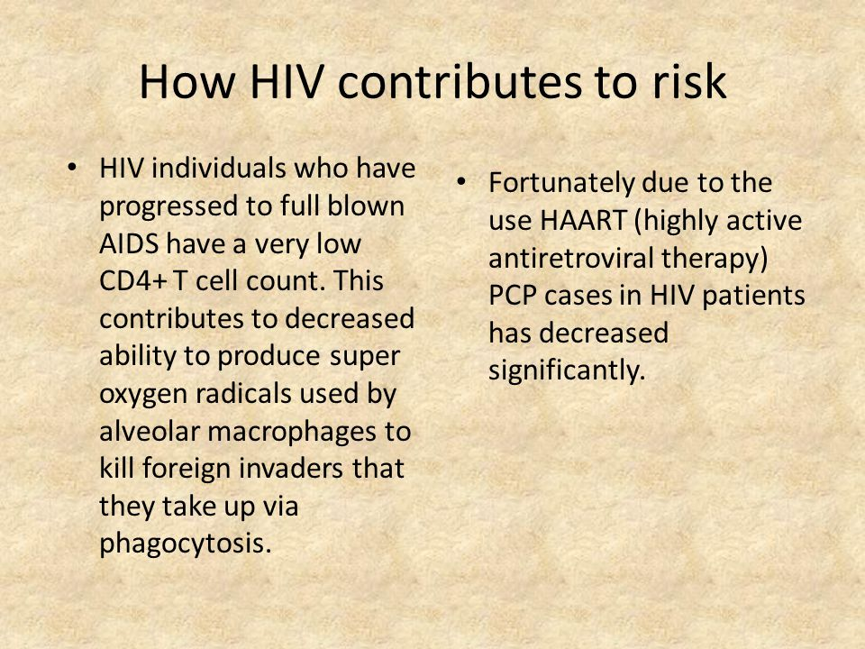 How HIV contributes to risk