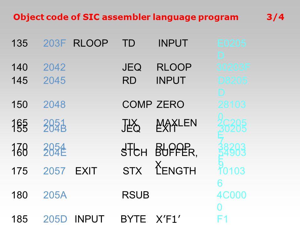 135 203F RLOOP TD INPUT E0205D 140 2042 JEQ 30203F 145 2045 RD D8205D