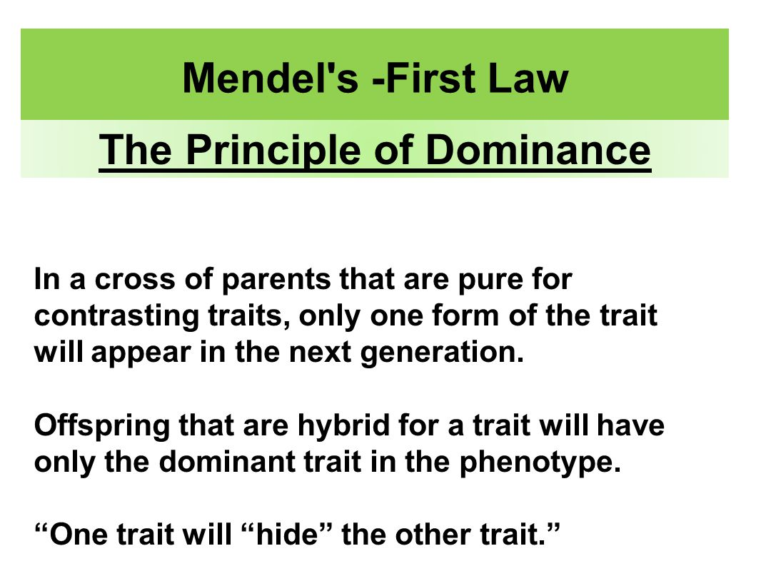 law of dominance - photo #28