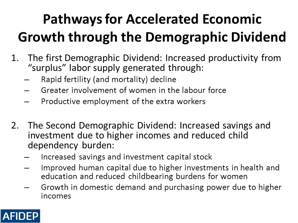 Pathways for Accelerated Economic Growth through the Demographic Dividend
