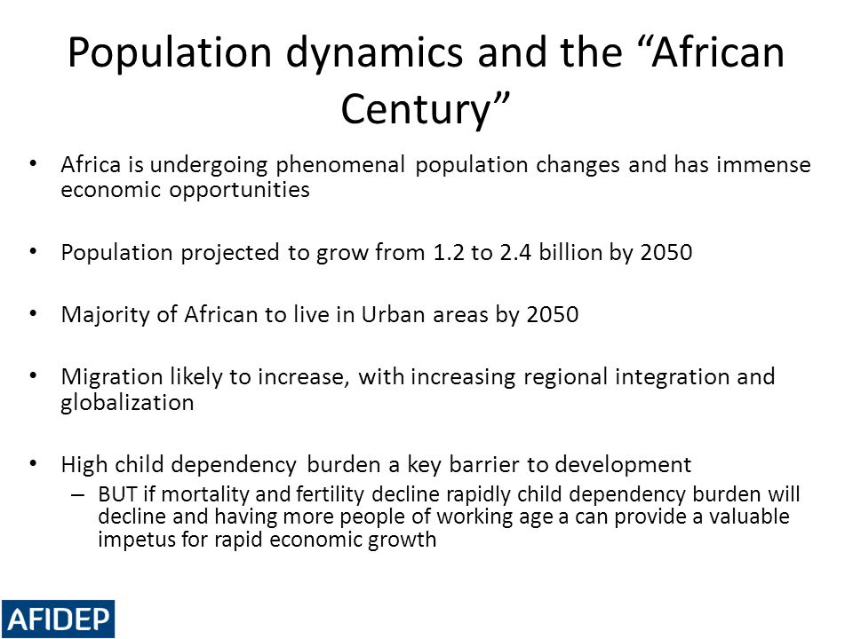 Population dynamics and the African Century